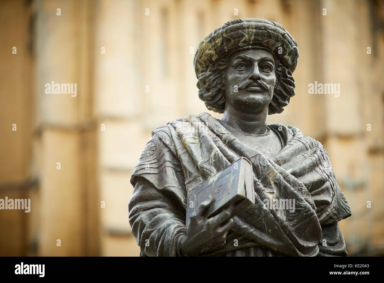 Statue of Indian reformer Raja Rammohun Roy at Bristol Cathedral Bristol city centre - Stock Image