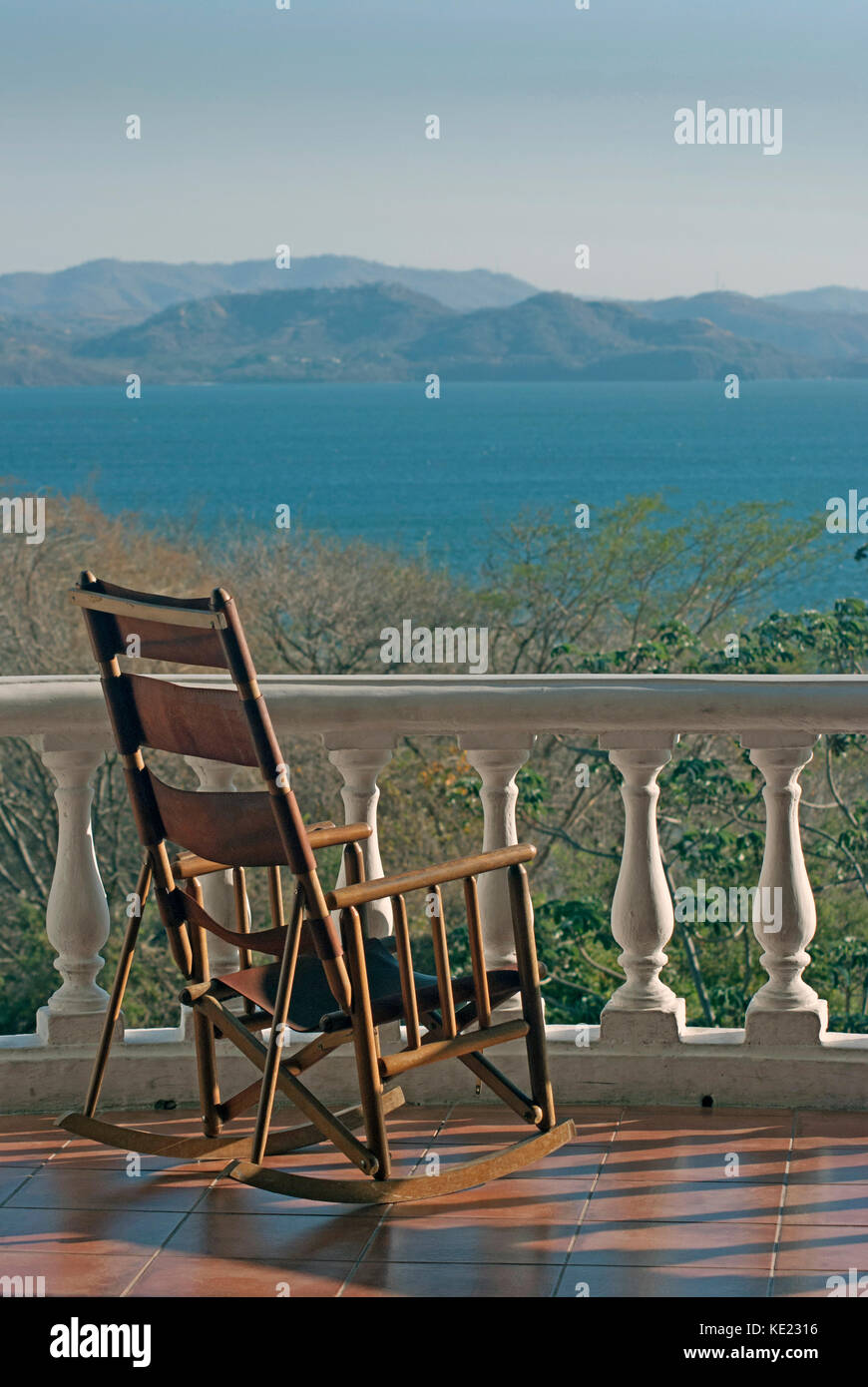 Cool Rocking Chair On A Patio Overlookig Marina In Papagayo Bay Caraccident5 Cool Chair Designs And Ideas Caraccident5Info