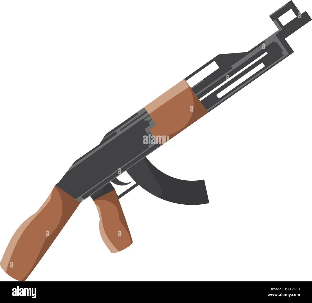 machine gun icon - Stock Vector