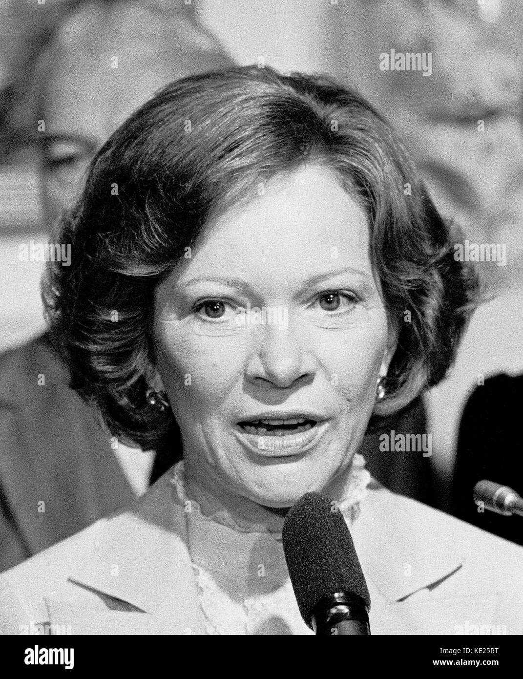Rosalynn Carter, wife of President Jimmy Carter, visiting San Francisco, California - Stock Image