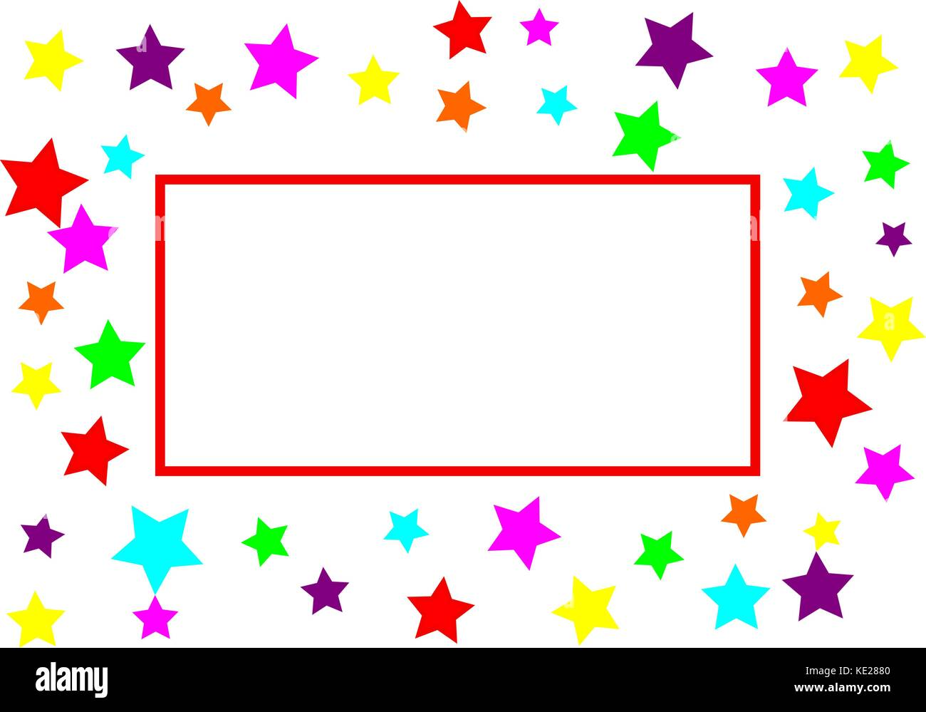 star background with red rectangle and room for text - Stock Vector