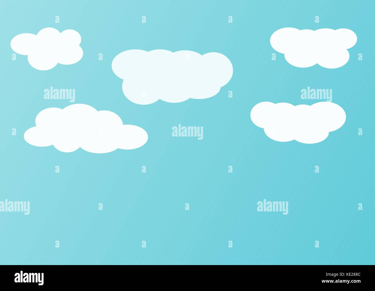 blue sky background with white clouds - Stock Image