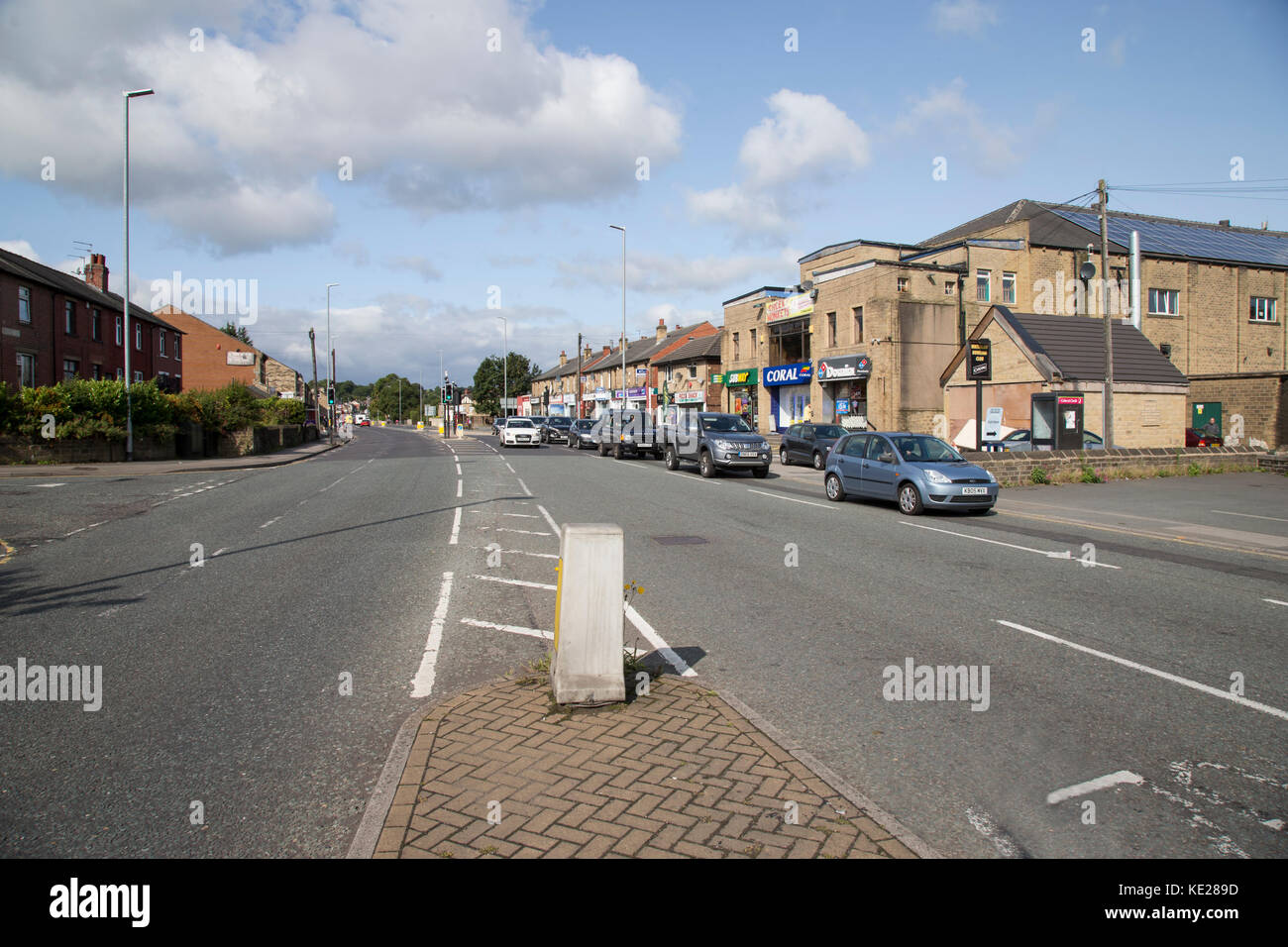View of the district of Waterloo in Huddersfield, West Yorkshire - Stock Image