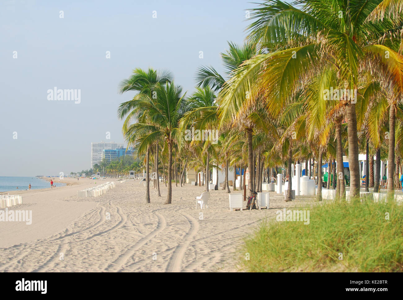 Early morning view of Fort Lauderdale Beach, Florida - Stock Image