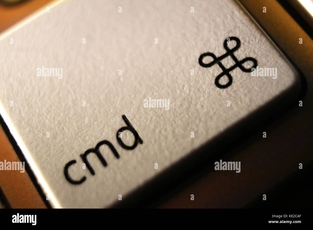 Command key (⌘) on an apple computer keyboard Stock Photo