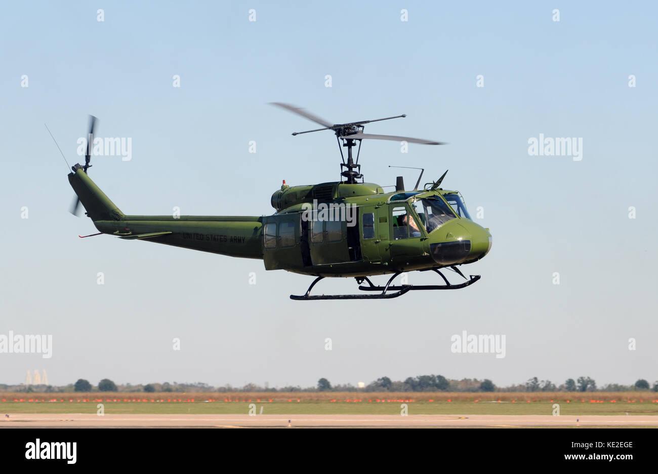 Vietnam War era US army helicopter Stock Photo: 163553838