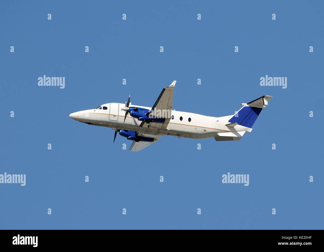 Modern turboprop airplane for regional passenger service - Stock Image