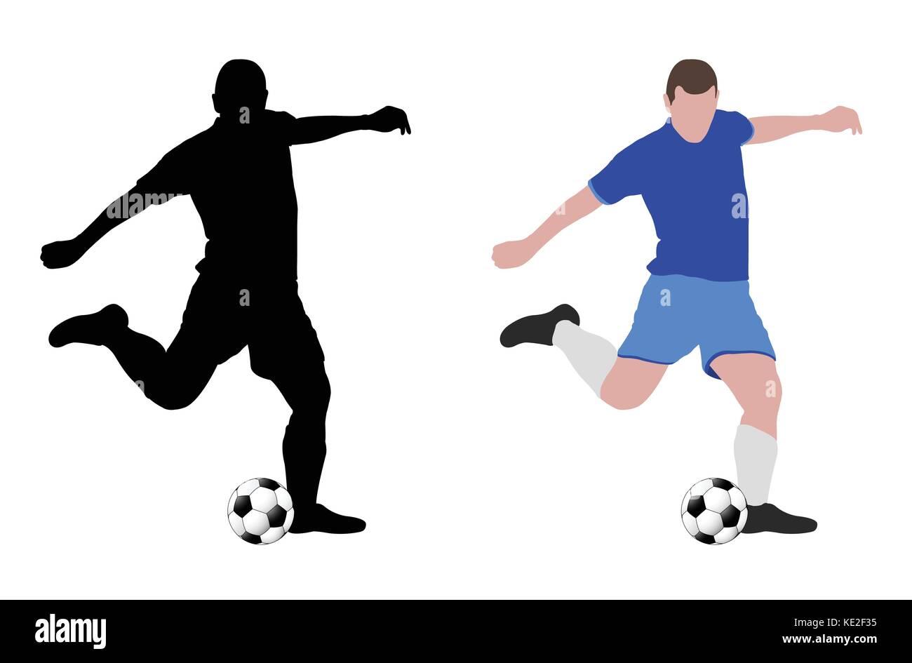 soccer player - vector illustration - Stock Image