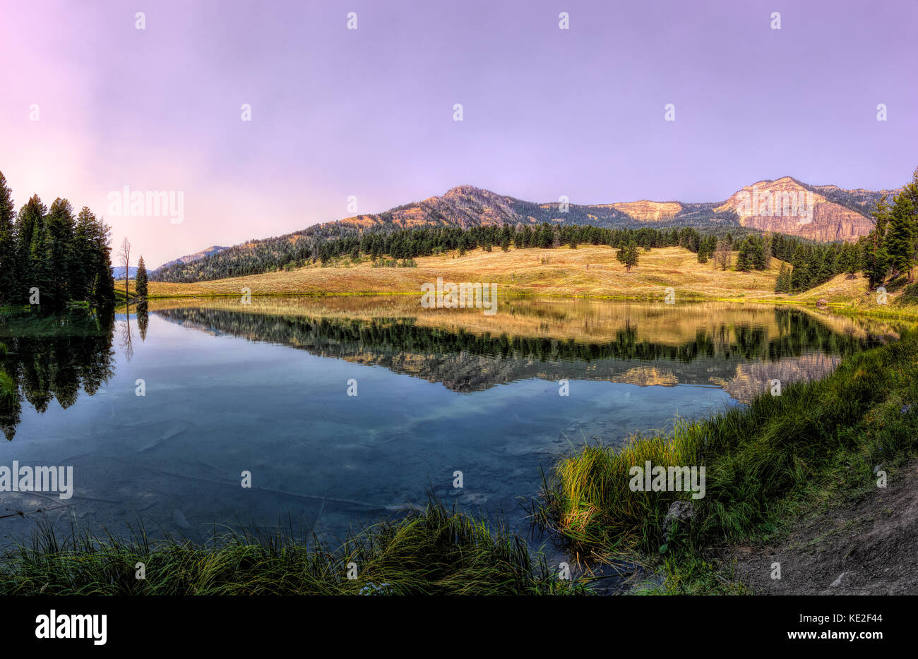 August 22, 2017 - Trout Lake located in Yellowstone National Park - Stock Image