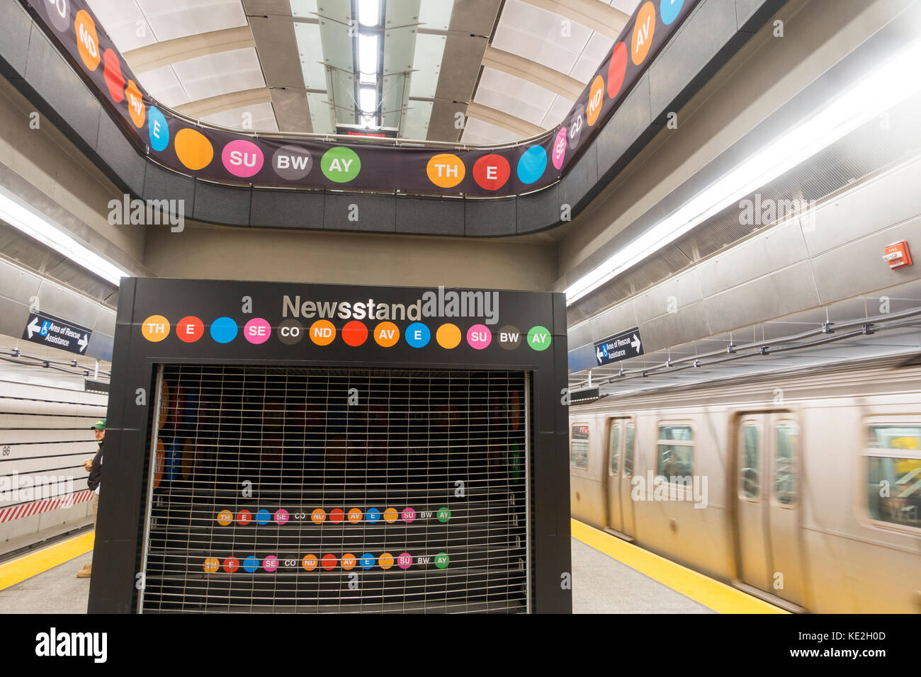 2nd avenue subway NYC Stock Photo