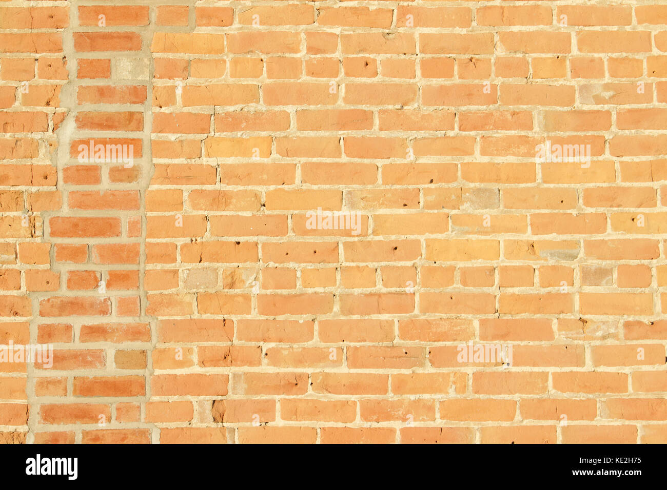 Shabby Chic Old Clay Brick Wall Background - Stock Image