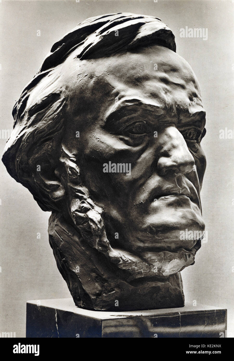 Richard Wagner sculpture. RW, German composer & author: 22 May 1813 - 13 February 1883. - Stock Image