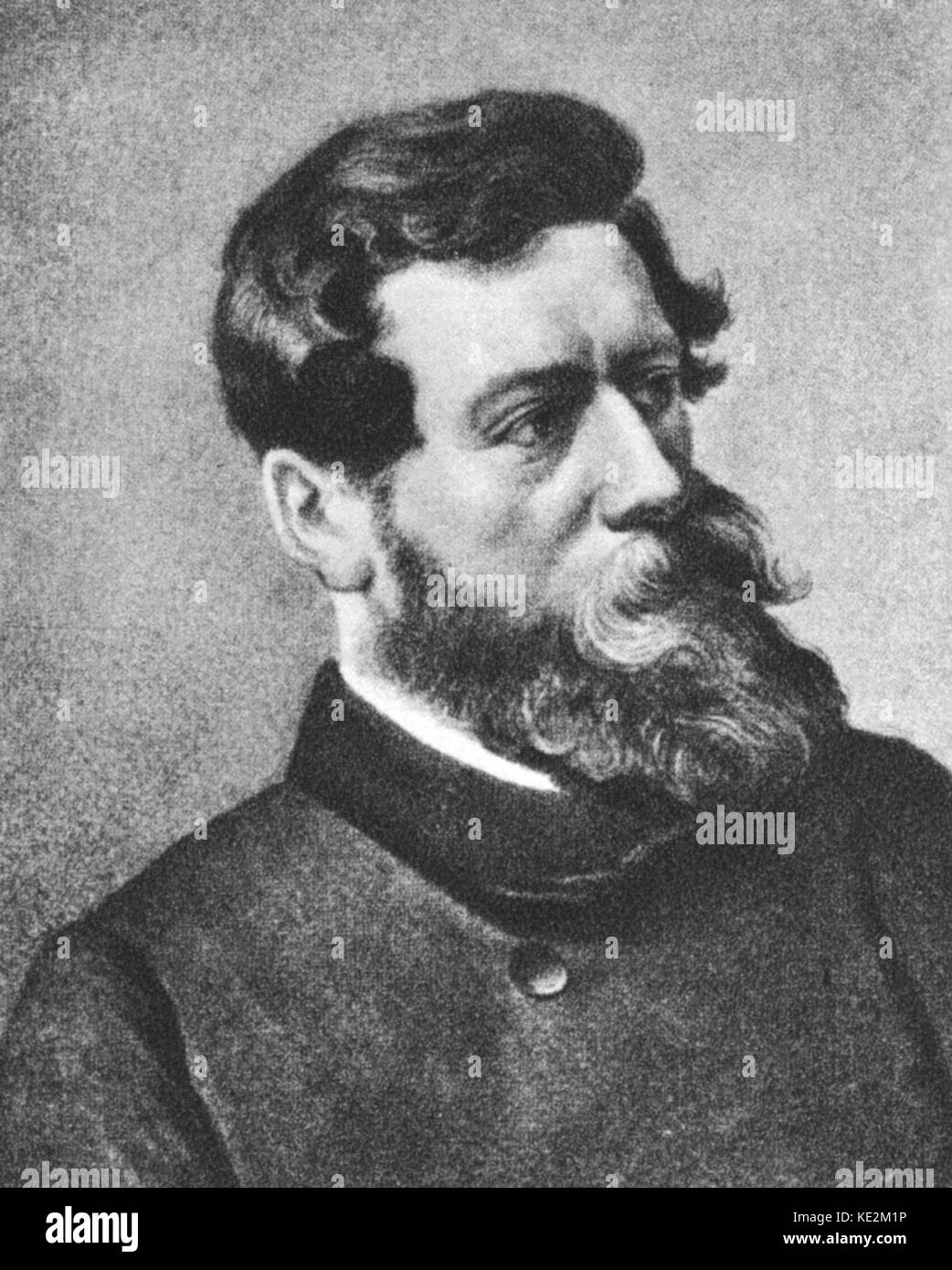Ludwig Feuerbach. Portrait of the German philosopher. July 28, 1804 – September 13, 1872. The fourth son of the - Stock Image