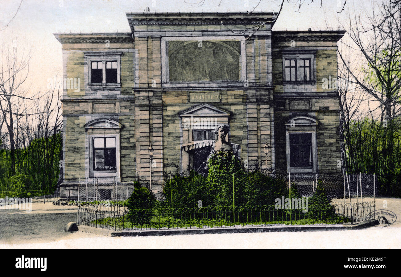 Bayreuth - Wahnfried House.  Richard Wagner 's villa.  German composer & author, 22 May 1813 - 13 February 1883. Stock Photo
