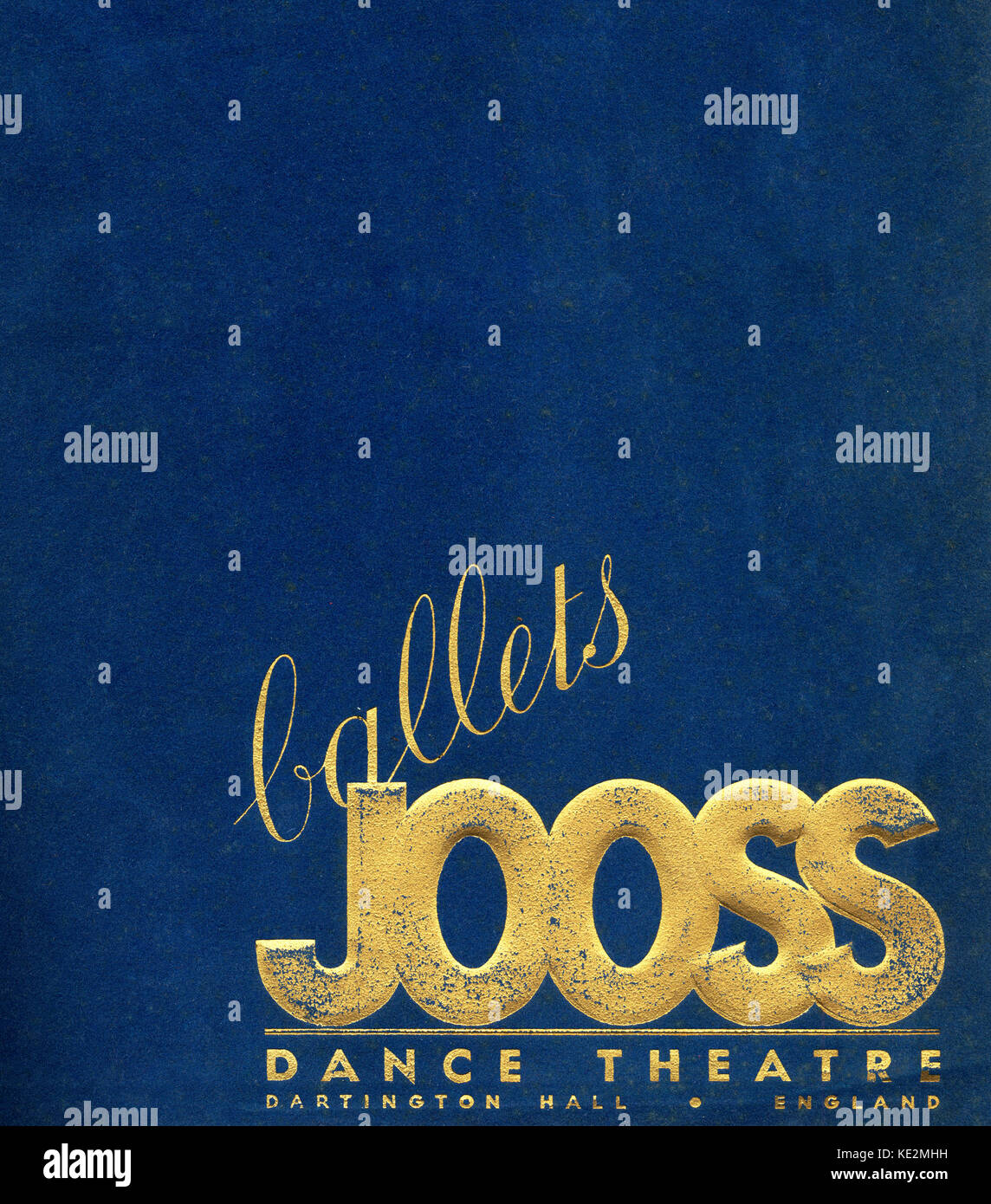 Ballets Jooss Dance Theatre programme cover Dartington Hall, England.  Directed by Kurt Jooss (1901–1979, German - Stock Image