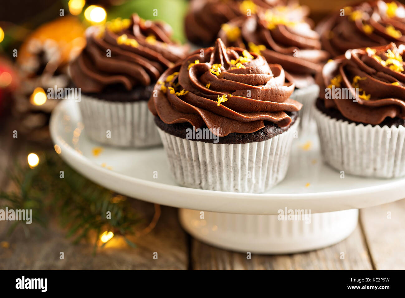 Chocolate Orange Cupcakes For Christmas With Ganache