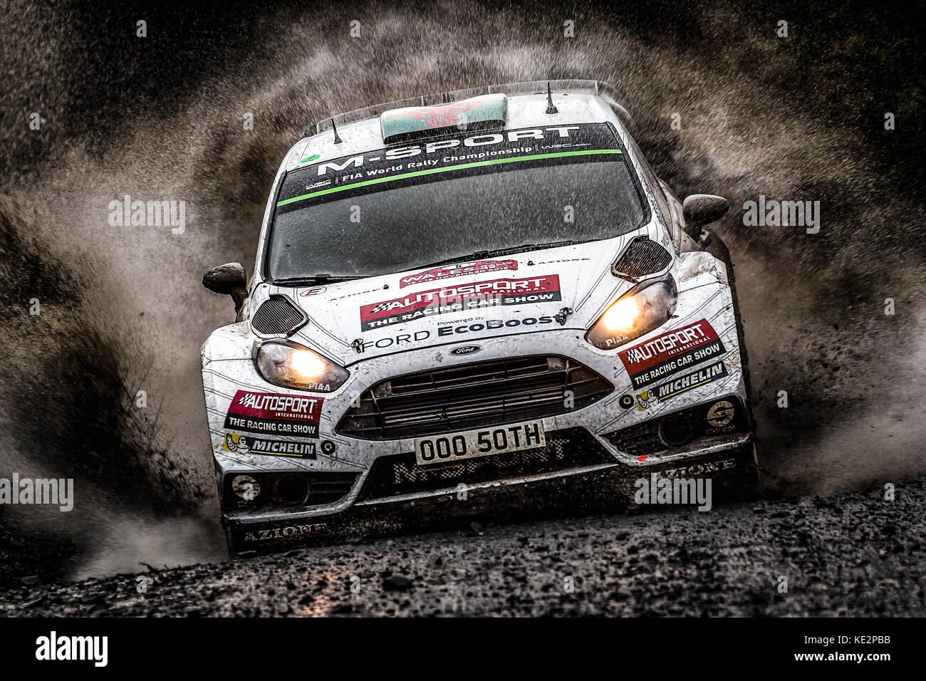 Elfyn Evans at the WRC World Rally Championship, Wales Rally GB ...