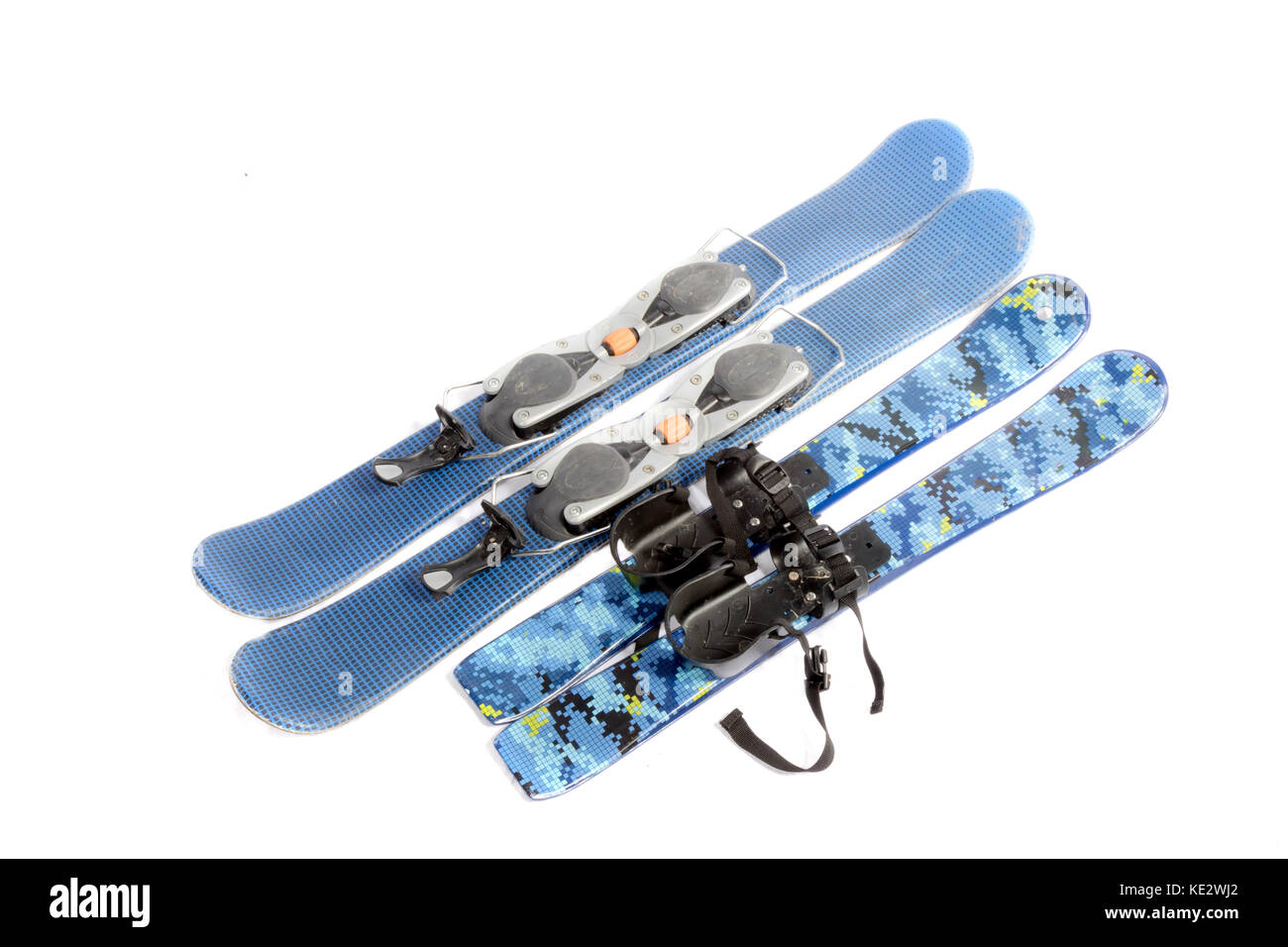 Ski blades isolated on a white background - Stock Image
