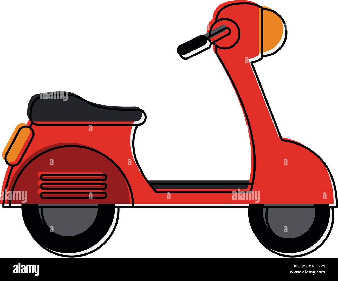 scooter sideview icon image  Stock Vector