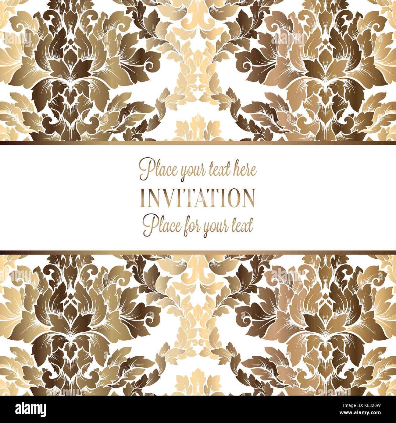 Vector luxury foliage with gold floral vintage pattern for banner vector luxury foliage with gold floral vintage pattern for banner wallpaper invitation card booklet template for wedding invitation design or back stopboris Image collections