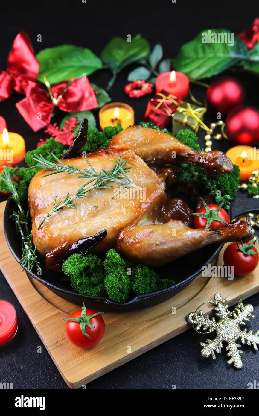 Roast Chicken - Stock Image