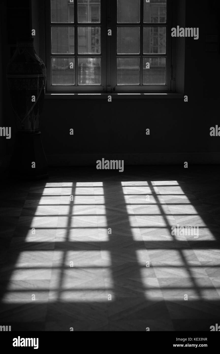 Window at Carnavalet Museum, Paris - Stock Image