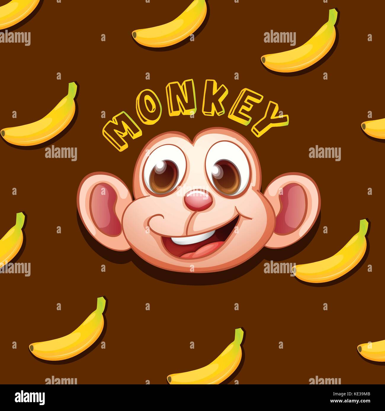 Smiling Banana Face Stock Vector Images Alamy