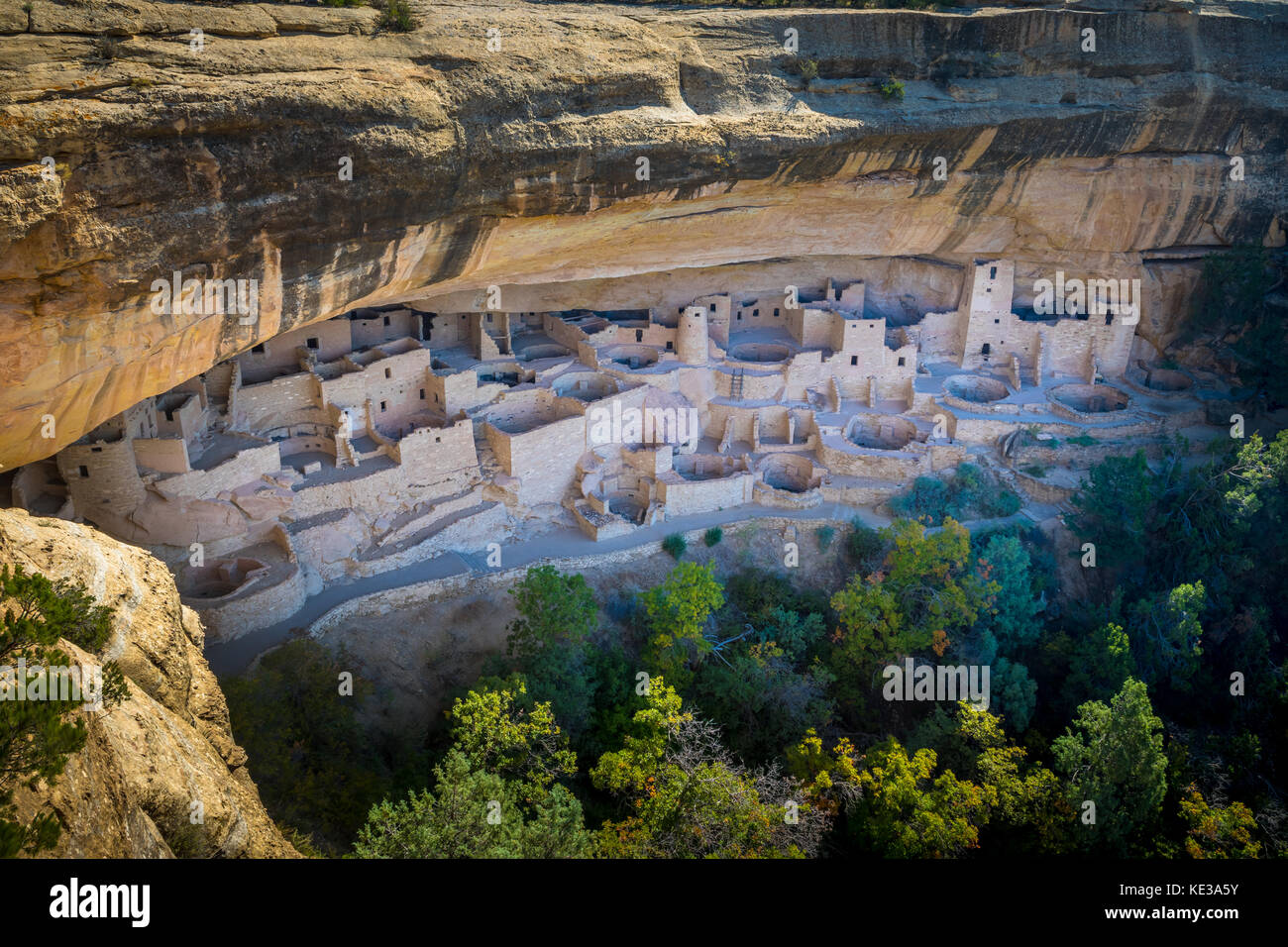 Mesa Verde National Park is a National Park and World Heritage Site located in Montezuma County, Colorado. - Stock Image