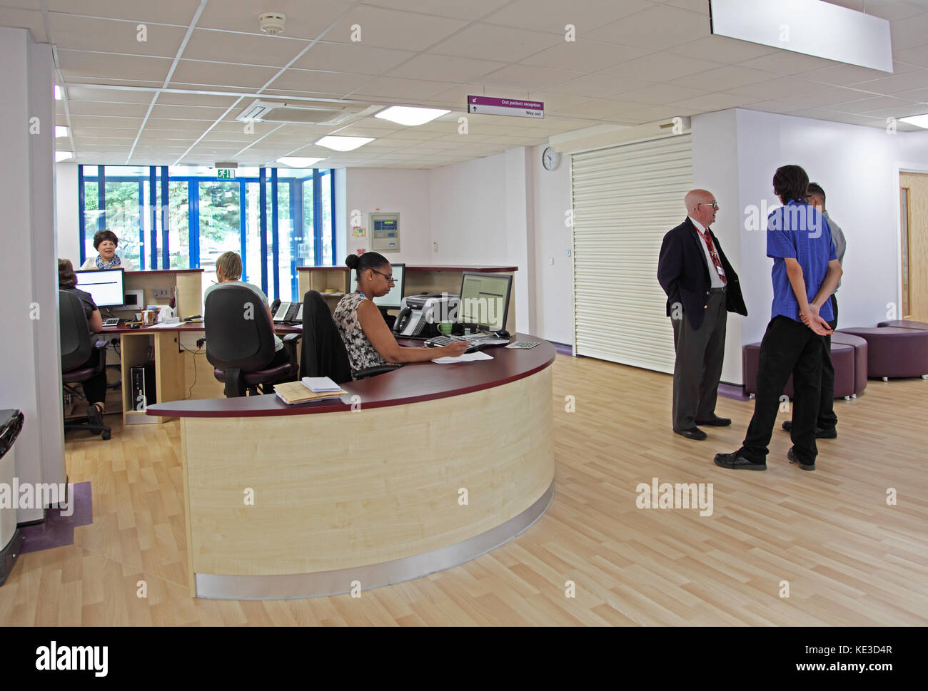 Entrance lobby at the newly refurbished Purley War Memorial Hospital in South London, UK - Stock Image