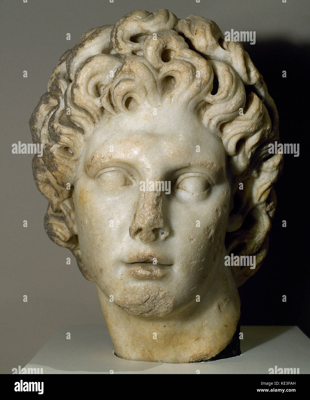Alexander the Great king of Macedon (356-323 BC). Argead dynasty. 2nd century AD. Bust. Archeological Museum of - Stock Image