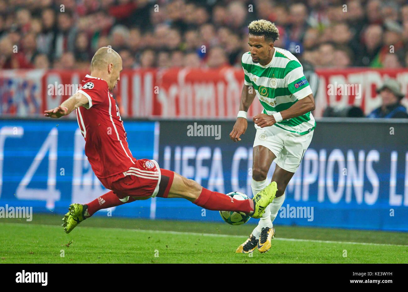 Munich, Germany. 18th Oct, 2017. FC Bayern Munich Soccer, Munich, October 18, 2017 Arjen ROBBEN, FCB 10 compete - Stock Image