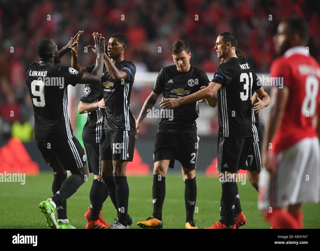 Lisbon. 18th Oct, 2017. Marcus Rashford (2nd L) of Manchester United Stock  Photo - Alamy
