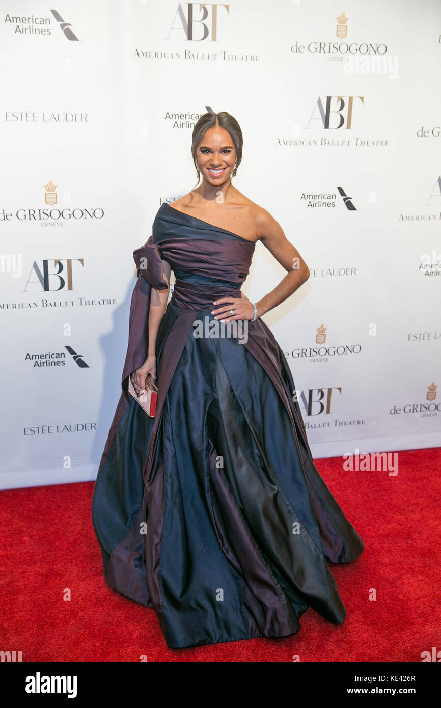 New York, USA. 18th Oct, 2017. American Ballet Theatre Fall Gala: Misty Copeland attends the American Ballet Theatre - Stock Image