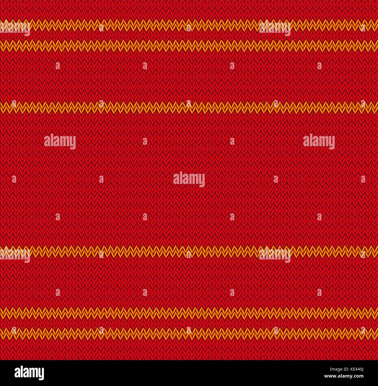 Christmas texture of knitted warm sweater. Knitted seamless pattern, endless background. Vector illustration. - Stock Vector