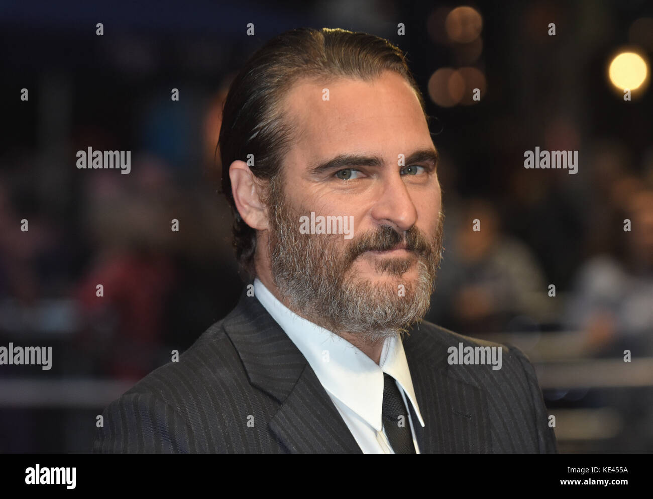 Joaquin Phoenix,'You Were Never Really Here' - UK Premiere,BFI London Film Festival,Odeon Leicester Square,London.14.10.17 - Stock Image