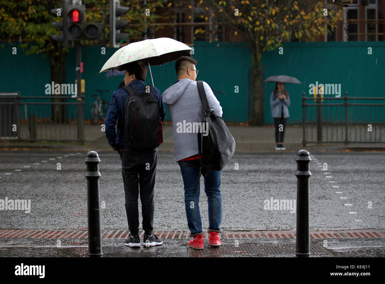 Glasgow, Scotland, UK.16th October.The Met Office issued yellow weather alerts and warned about possible storm damage - Stock Image