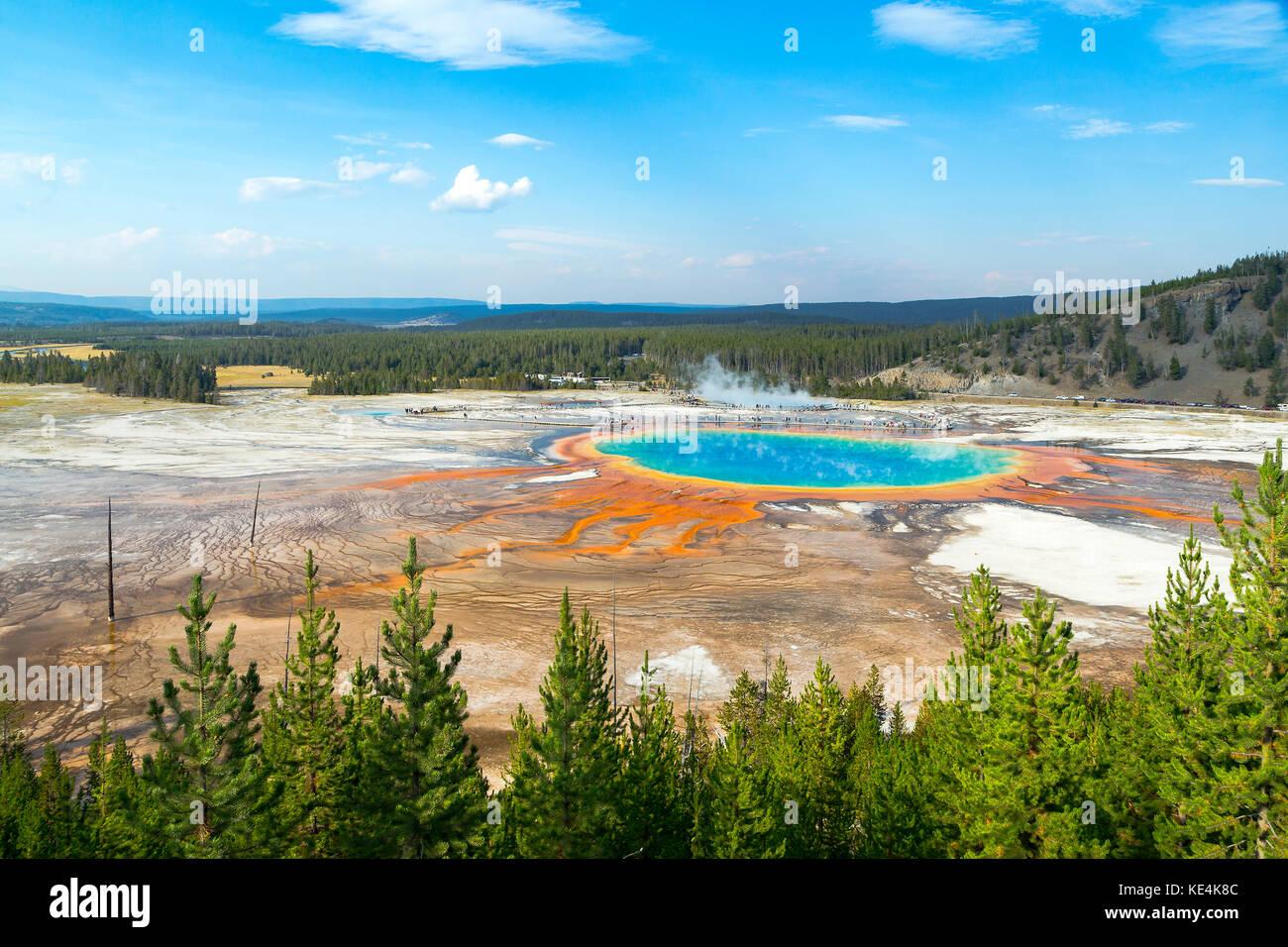 USA Yellowstone nationl park, Grand Prismatic Spring - Stock Image
