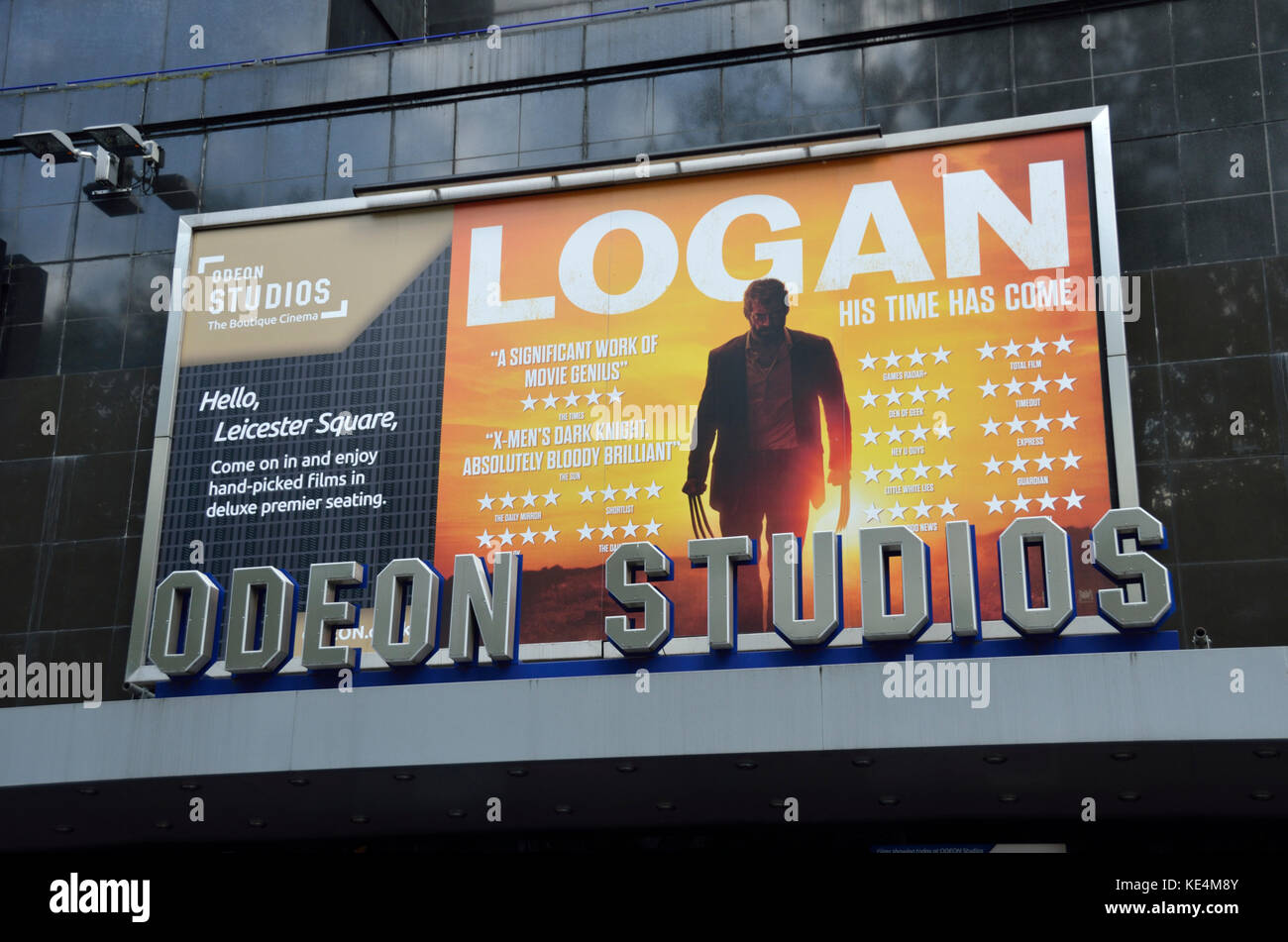 Logan film billboard poster outside the Odeon Studios in Leicester Square, London, UK. - Stock Image