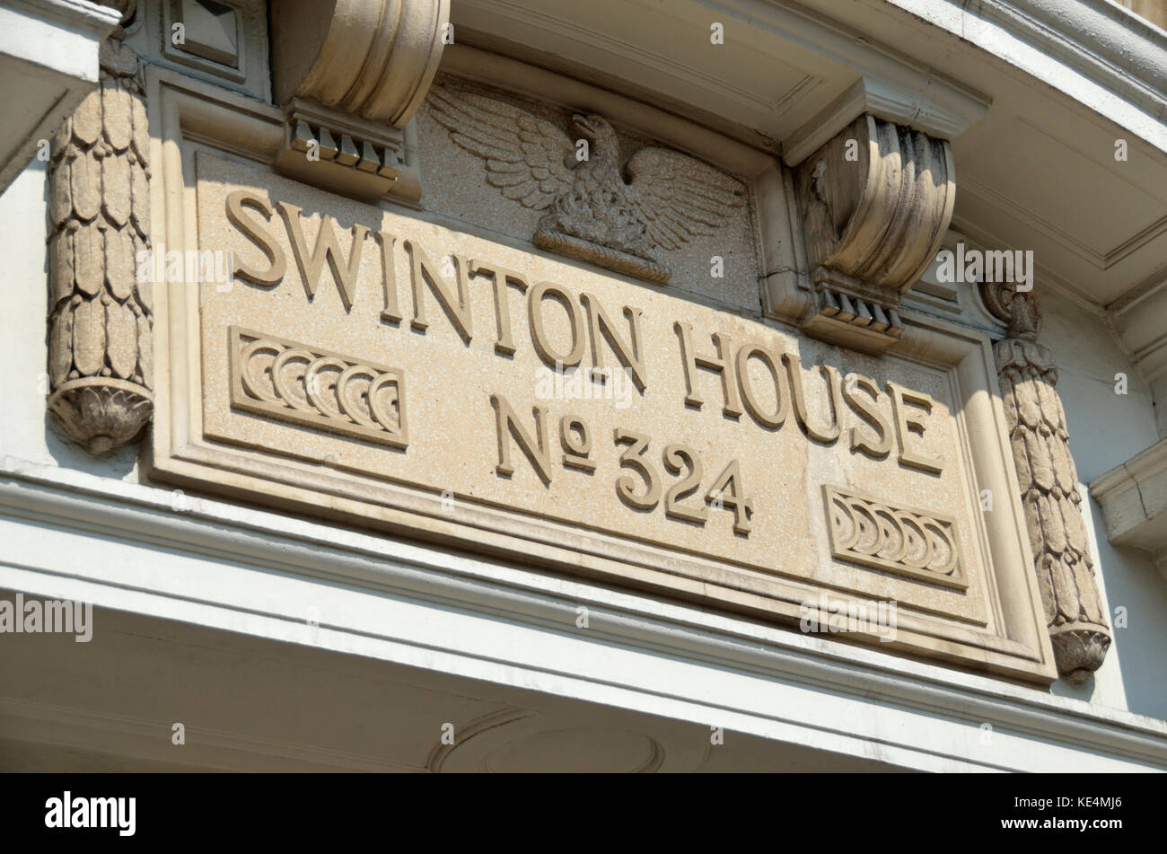Swinton House in Gray's Inn Road, King's Cross, London, UK. - Stock Image