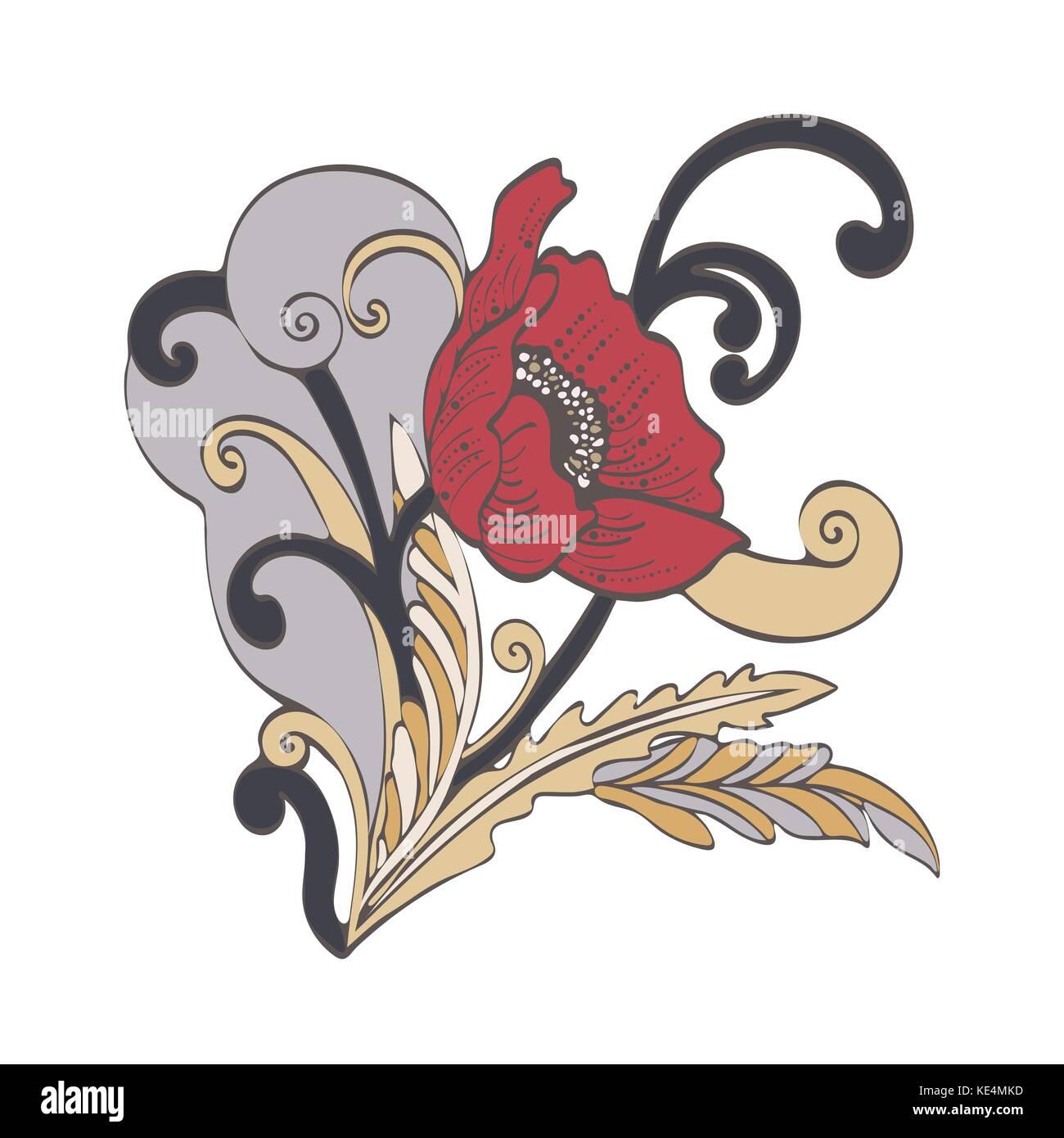 Cartoon Boho Flower Stock Photos & Cartoon Boho Flower Stock Images ...