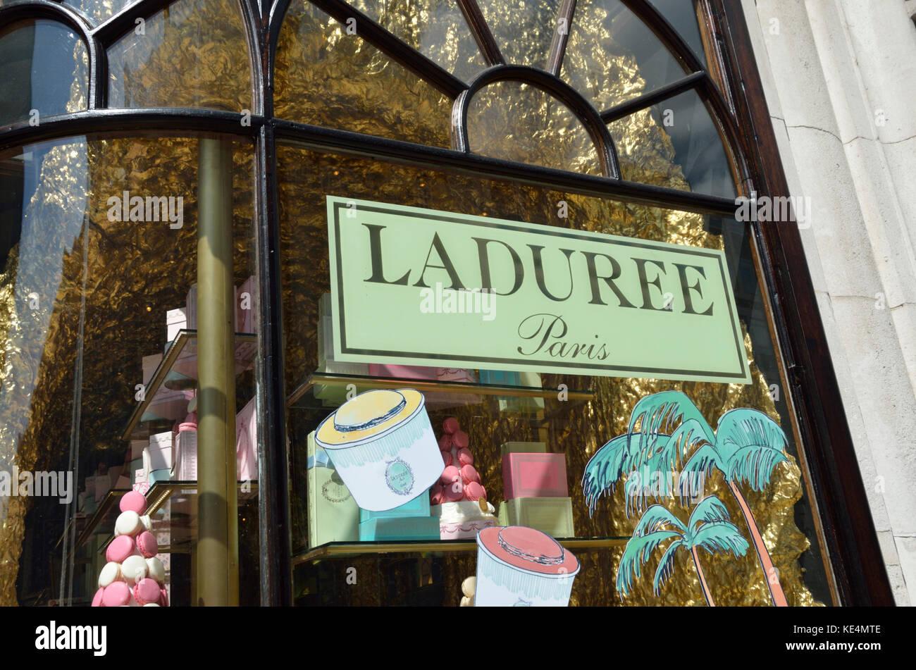 Laduree patisserie bakery in Burlington Arcade, London, UK. - Stock Image