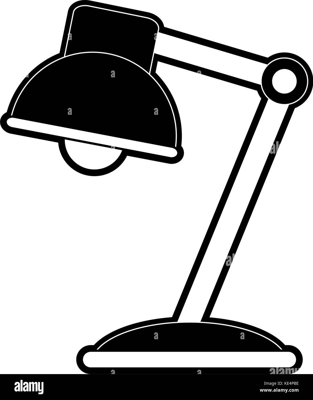 Study light lamp - Stock Vector