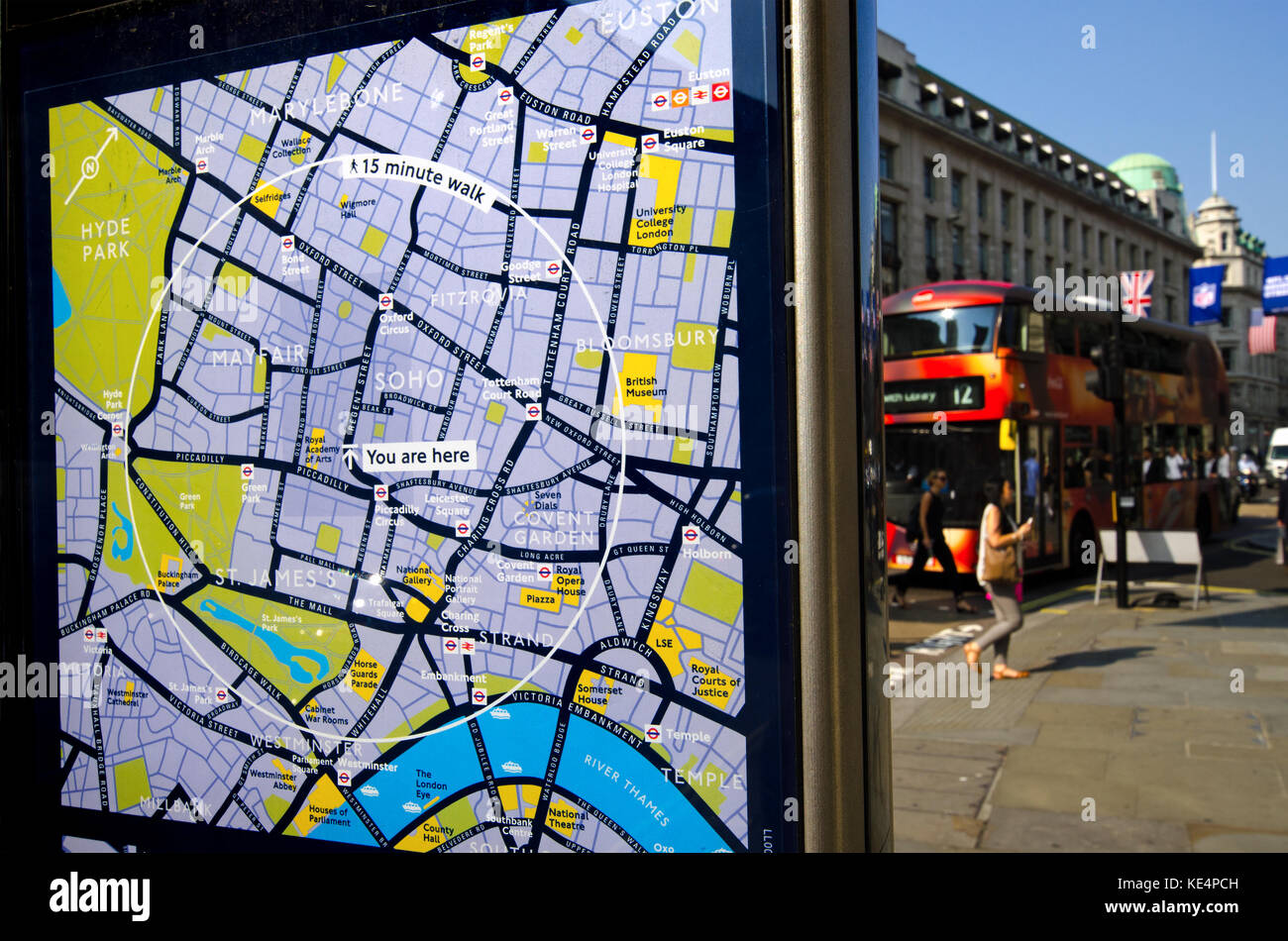 Street Map London Uk.London England Uk You Are Here Tourist Map In Regent Street