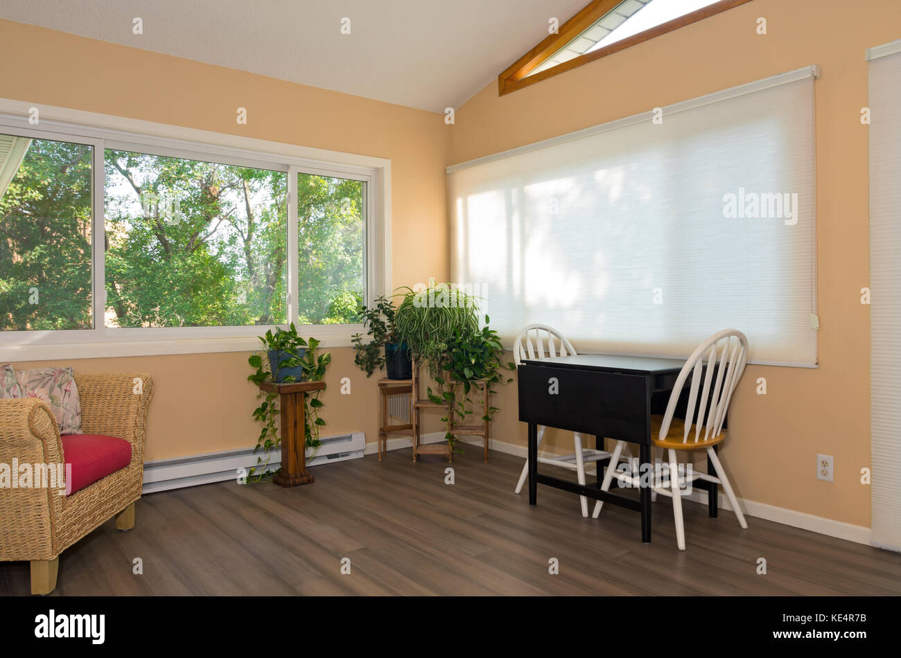 interior of remodeled sunroom addition to home and decor including