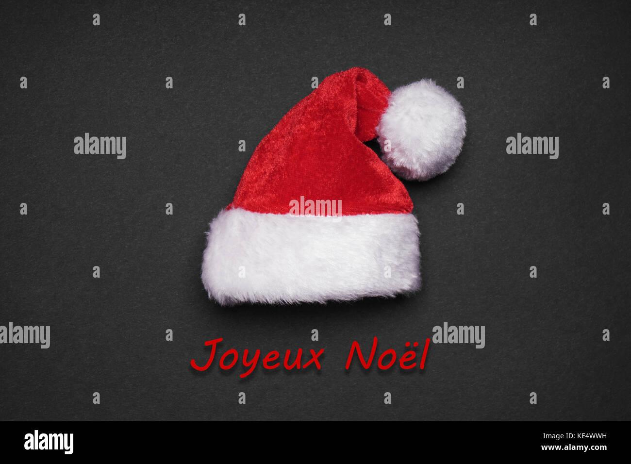 Joyeux Noel french christmas greeting card - Stock Image