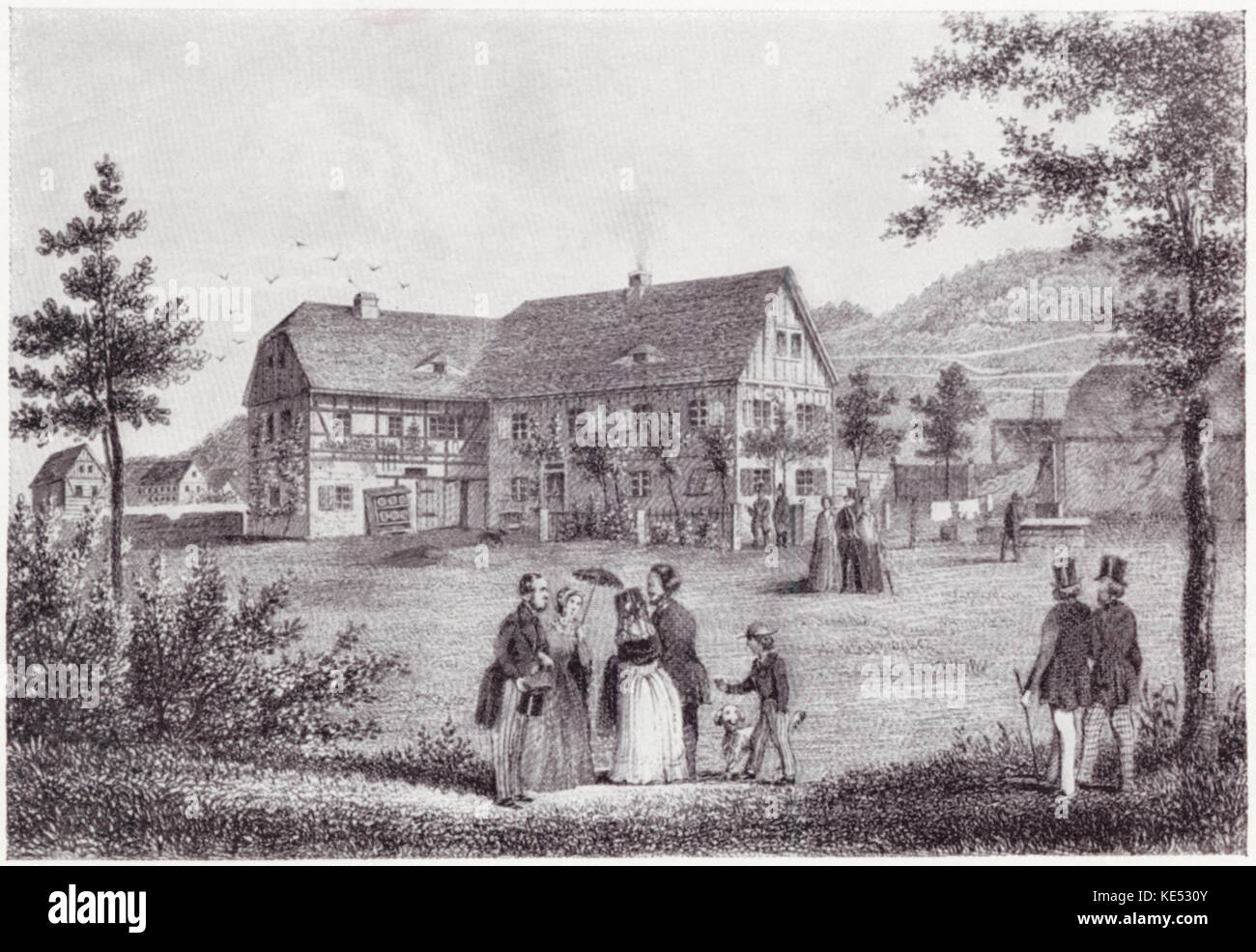 Carl Maria von Weber 's summer residence in Klein-Hosterwitz, Germany. CMvW, German composer: 18 November 1786 - Stock Image