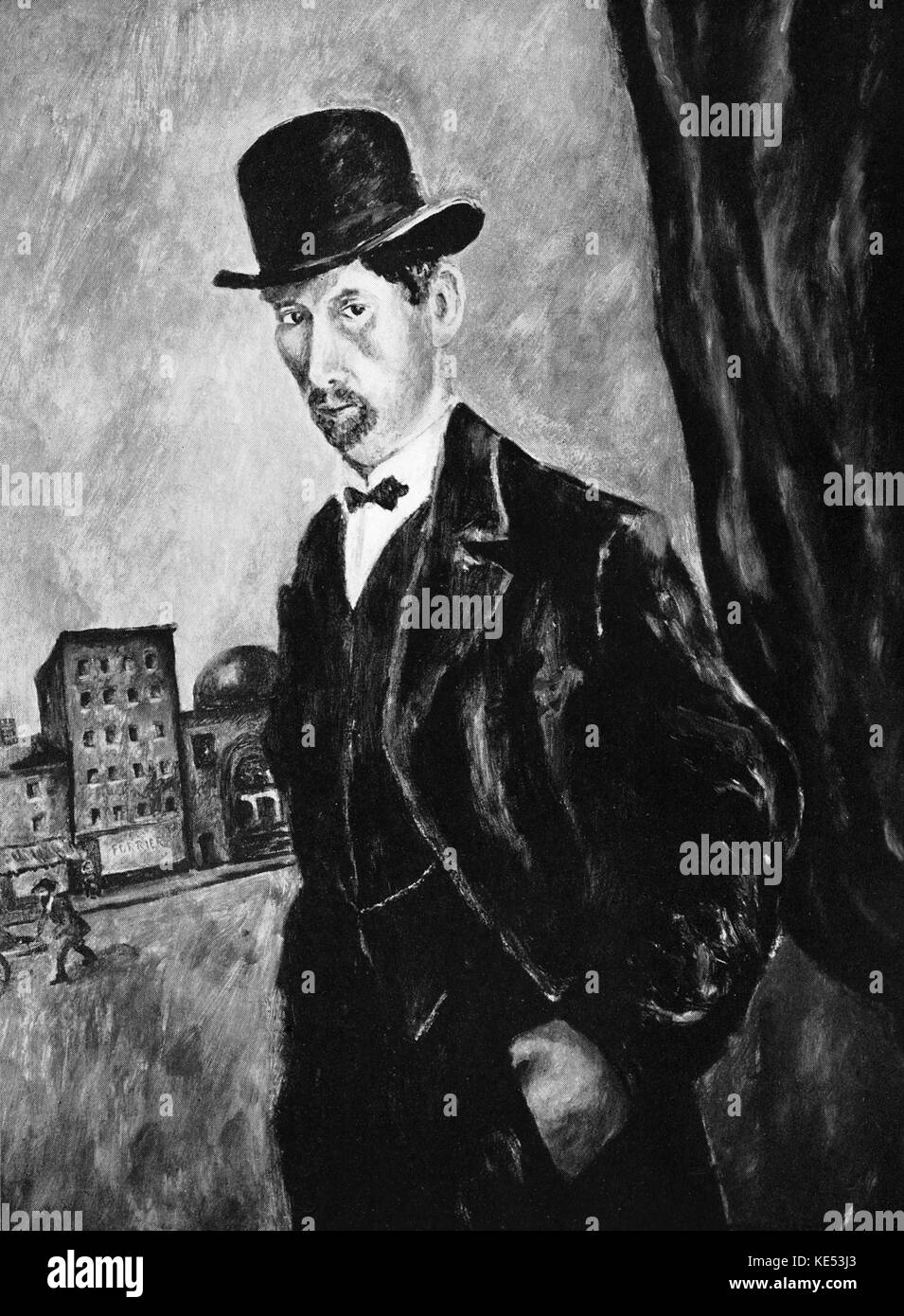 George Gershwin 's painting of his Grandfather 1933.   American composer & pianist, 26th September 1898 - 11th July Stock Photo
