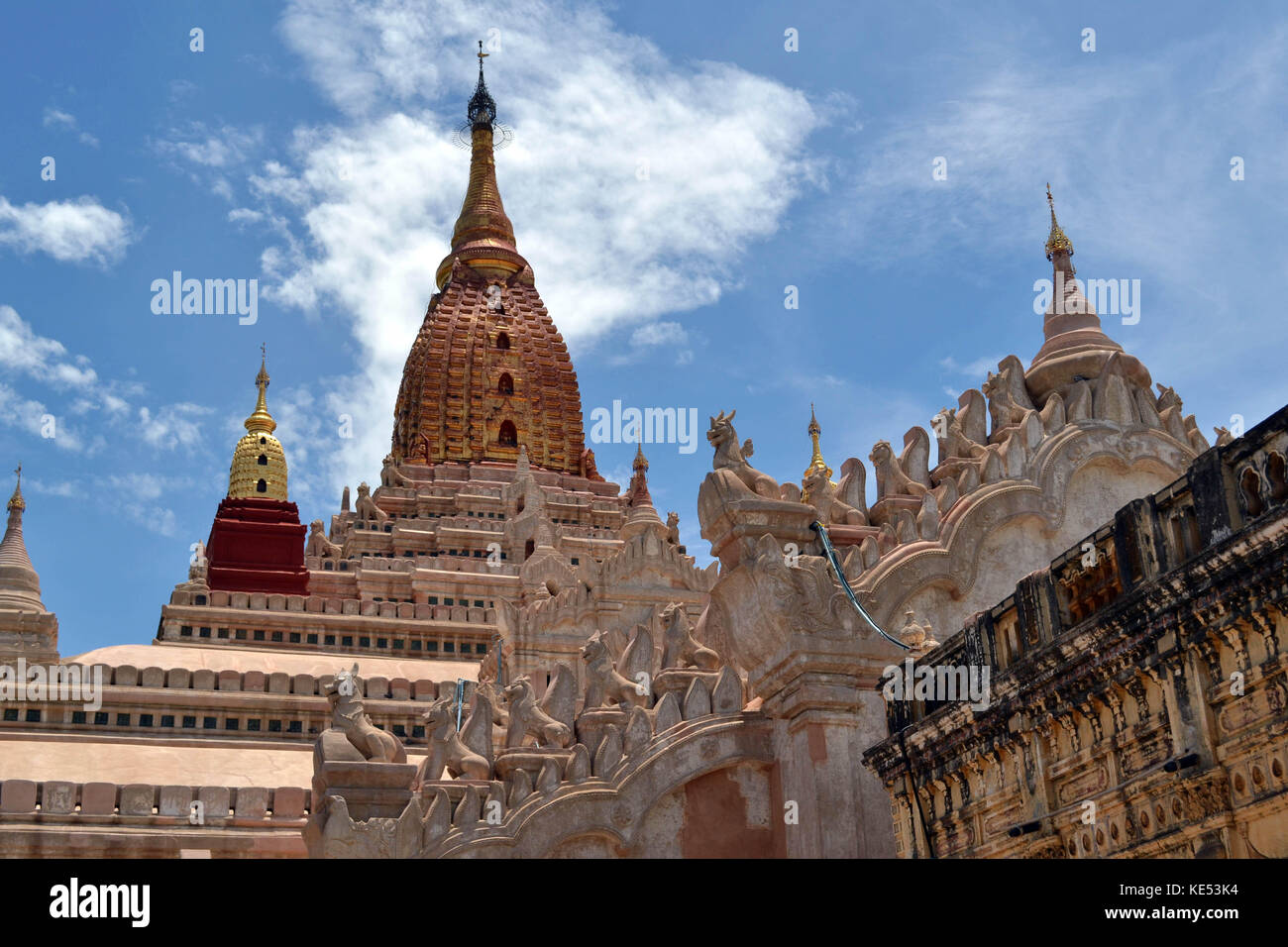 Arguably the most beautiful temple in Bagan, Myanmar. It's Ananda Temple. Pic was taken in August 2015. - Stock Image
