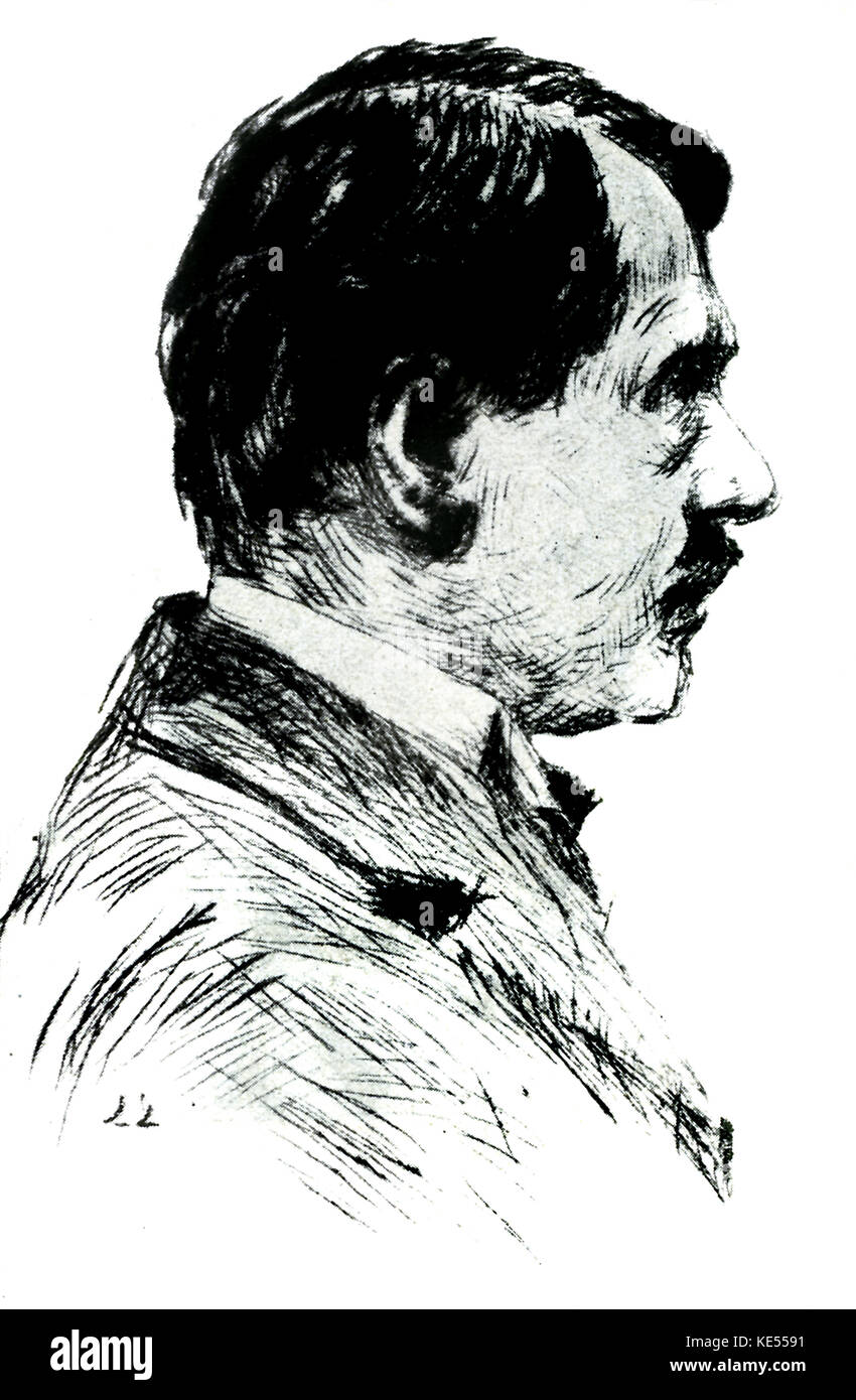 Paul Bourget - portrait by Ladislas Loewy. PB: French novelist, dramatist and critic, 2 September 1852 - 25 December - Stock Image