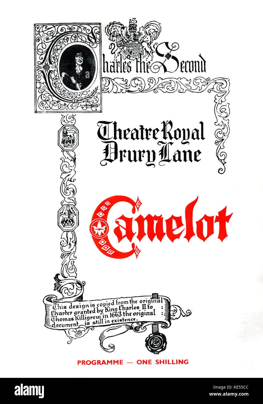 Camelot- musical at Theatre Royal Drury Lane, London. Cardew Robinson as Pellinore, Directed and Choreographed by - Stock Image
